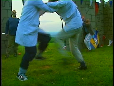 A long time tradition the Cotswold Olympics goes back to the 1600's and features a shin kicking contest