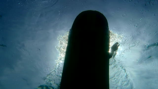 longboard paddle underwater - costa rica stock videos & royalty-free footage