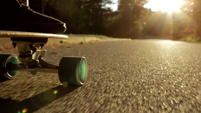 longboard - slow motion - moving down stock videos & royalty-free footage