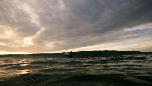 longboard wave ride. - channel islands england stock videos & royalty-free footage
