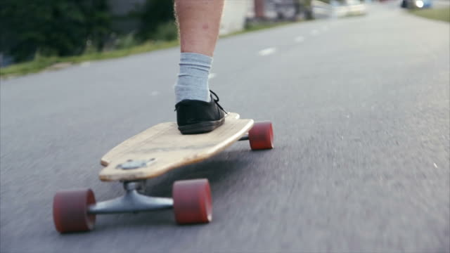 longboarding in urban environment - longboarding stock videos & royalty-free footage