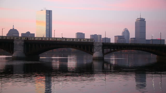 longfellow bridge, boston - back bay stock-videos und b-roll-filmmaterial