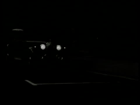 night longgrill car pulling up to curb scotland yard men getting into car driving away sketchy suspicious - 1949 stock videos and b-roll footage