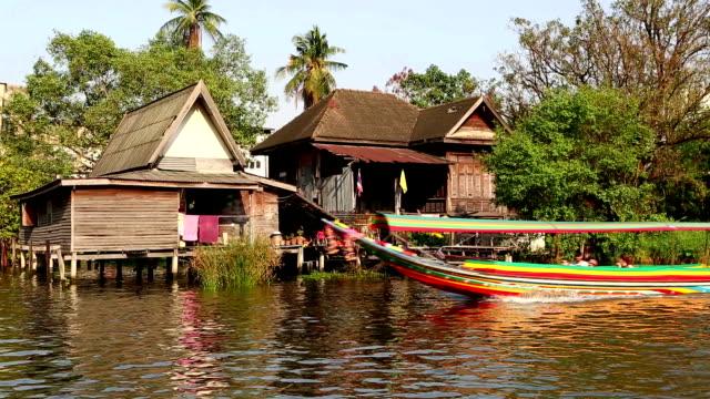 Longtail Boat River Canal Bangkok Thailand