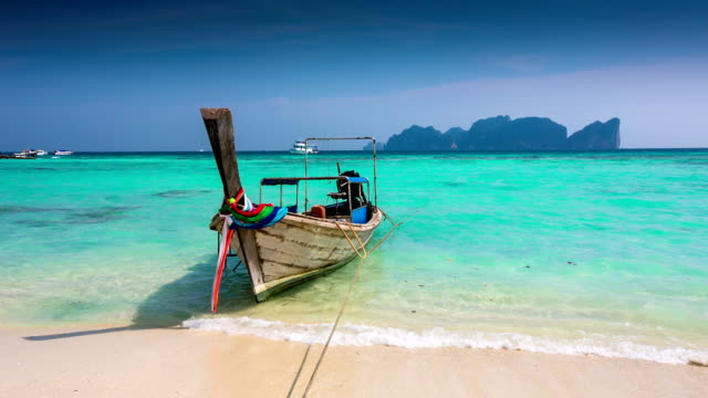 Longtale Boat at Beach Thailand