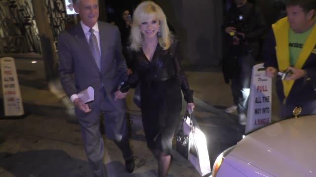 loni anderson leaves dinner at craig's in west hollywood in celebrity sightings in los angeles - loni anderson stock videos & royalty-free footage