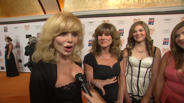 interview loni anderson on being a part of the night on her daughter being diagnosed with ms at the 21st annual race to erase ms in los angeles ca - loni anderson stock videos & royalty-free footage