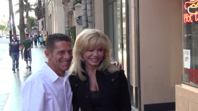 loni anderson talks about candy spelling eviction outside the pantages theatre in hollywood at celebrity sightings in los angeles loni anderson talks... - loni anderson stock videos & royalty-free footage