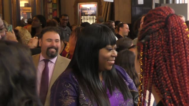 loni love outside color purple opening night at the pantages theatre in hollywood in celebrity sightings in los angeles, - パンテージスシアター点の映像素材/bロール
