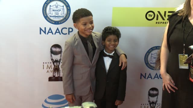 Lonnie Chavis and Sunny Pawar at 48th NAACP Image Awards at Pasadena Civic Auditorium on February 11 2017 in Pasadena California