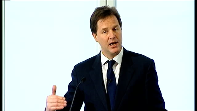 a look at fairness in politics and business 2612012 int montage of shots of nick clegg mp delivering speech and using word fairness sot fairness at... - paying taxes stock videos & royalty-free footage
