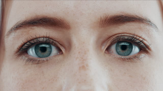look at me, who do you see? - blue eyes stock videos & royalty-free footage