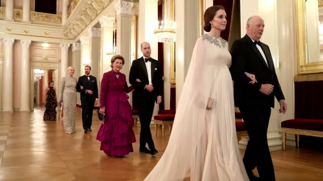 look at the duchess of cambridge's fashion highlights of 2018, including looks from her trip to scandinavia and her walk down the bafta red carpet. - red carpet event stock videos & royalty-free footage