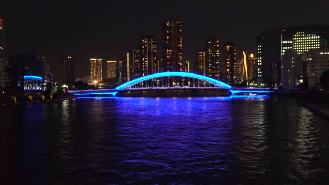 look at the eitai bridge while walking on the bridge - plusphoto stock videos & royalty-free footage