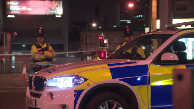 a look at the manchester arena just nights after the attack on the building that claimed 22 lives - manchester arena stock videos & royalty-free footage