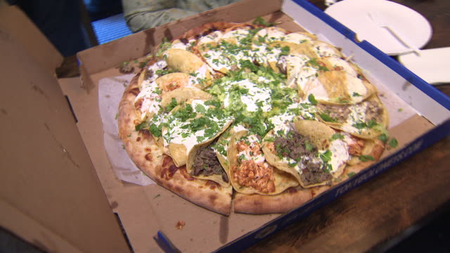 a look at the recently famed tony baloney's pizzeria in hoboken nj a look at the infamous taco pizza - hearth oven stock videos & royalty-free footage