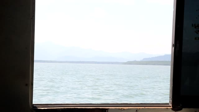 look at the sea from fishing boat windows - vehicle interior stock videos & royalty-free footage