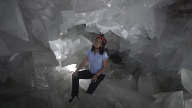 A look inside the giant geode of Pulpi in southern Spain considered to be the largest in Europe and the second largest in the world