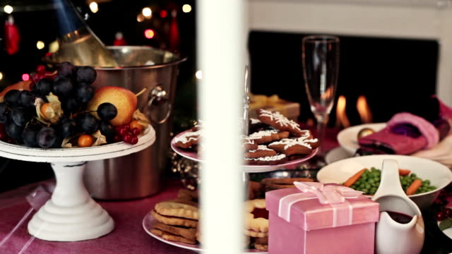 look on christmas dinner - place setting stock videos & royalty-free footage