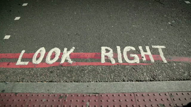 Look right and left in London