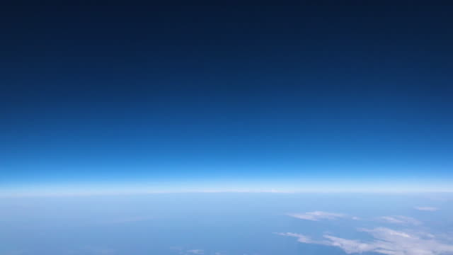 looking at aerial sky and cloud view from window airplane when traveling - viewpoint stock videos & royalty-free footage