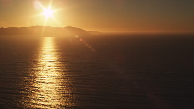 Looking back at Catalina Island in golden evening light. Shot in 2010.