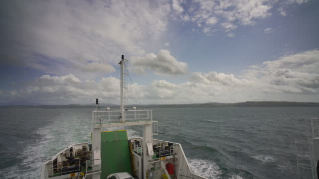 looking back to wards the scottish mainland from a passenger ship - pilgrimage stock videos & royalty-free footage