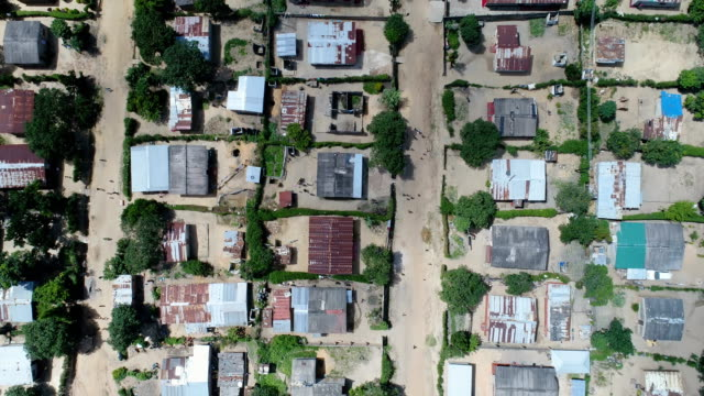 Looking down at a slum in Kitwe, Zambia