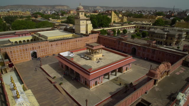 looking down at the pink courtyard. - mughal empire stock videos and b-roll footage