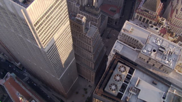 looking down into wall street area. shot in 2006. - 2006 stock videos & royalty-free footage