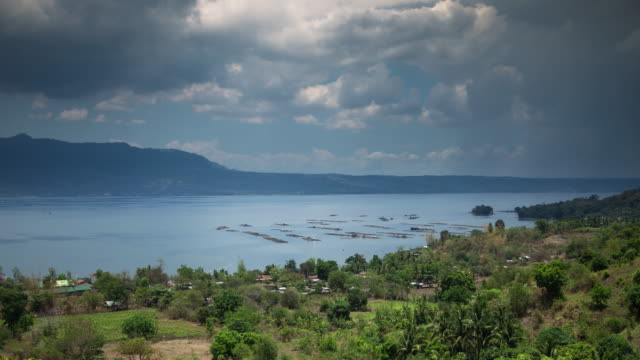 Looking Down on Taal Lake - Time Lapse