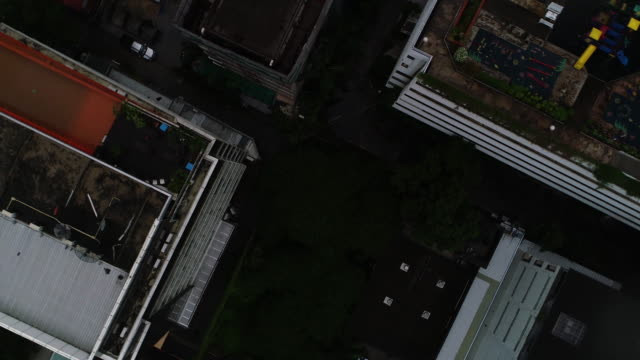 Looking Down over City Skyscraper