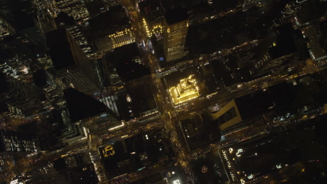 Looking down over Midtown Manhattan at night. Shot in 2011.