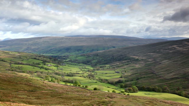looking down whernside into dentdale. - northwest england stock videos and b-roll footage