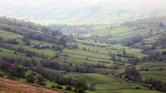 Looking down Whernside into Dentdale.