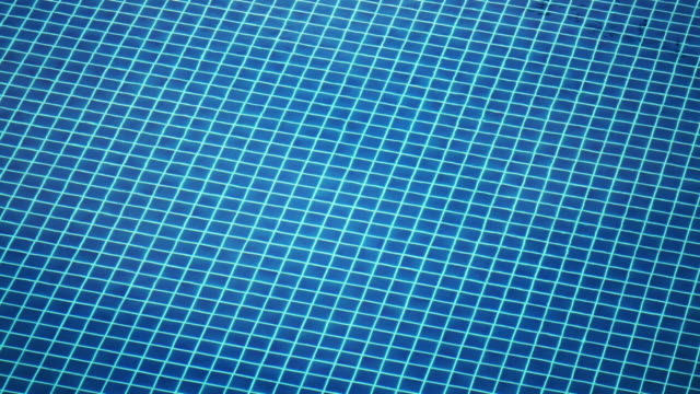 Looking into blue tiled Swimming pool rippled water