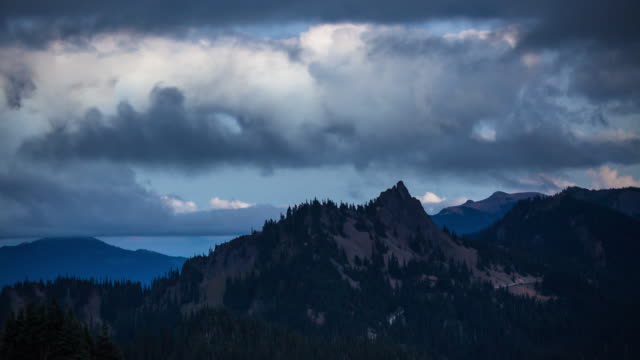 looking north from olympic national park at sunset - time lapse - olympic national park stock videos and b-roll footage