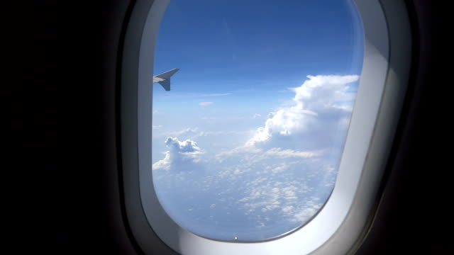 looking out the window in a plane hd - travel destinations stock videos & royalty-free footage