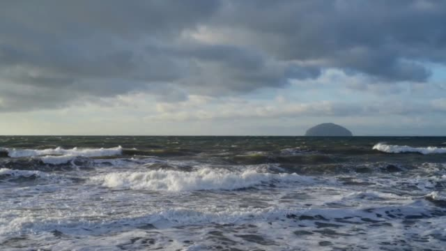looking out to ailsa craig in winter - david johnson stock videos & royalty-free footage