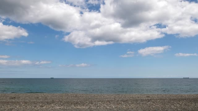 looking out to sea from bray, co. wicklow. - horizon over water stock videos & royalty-free footage