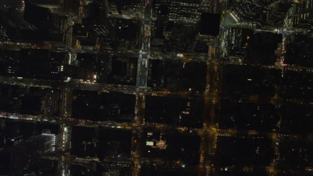 Looking straight down on Midtown Manhattan near Rockefeller Center at night. Shot in 2011.