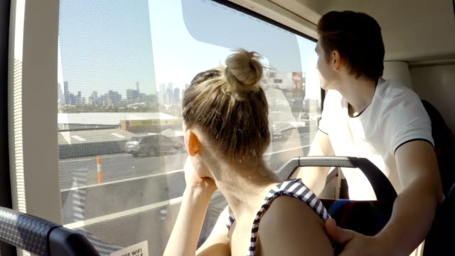 looking through bus window of melbourne - transportation stock videos & royalty-free footage
