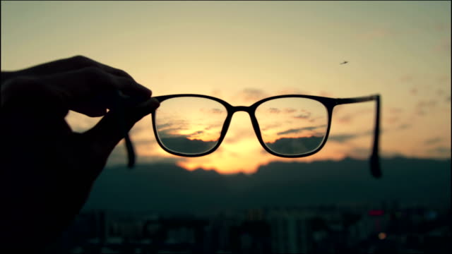 looking through eyeglass - lens eye stock videos & royalty-free footage