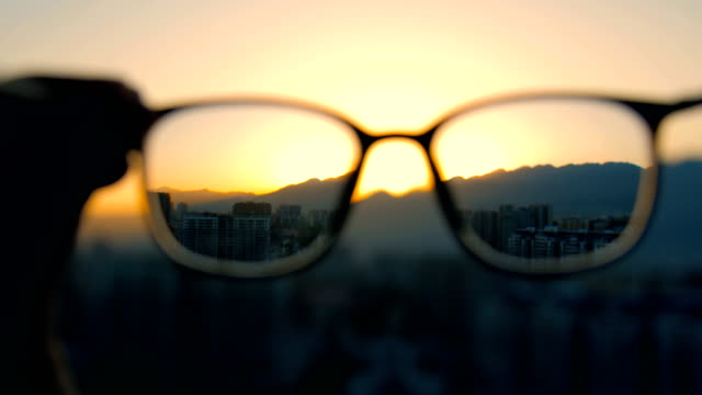looking through eyeglasses - looking through an object stock videos & royalty-free footage