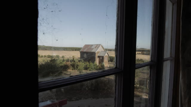 looking through the window: a small church in a farm, victoria. australia - imperfection stock videos & royalty-free footage
