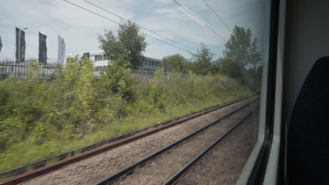 looking through the window of a train - land vehicle stock videos & royalty-free footage