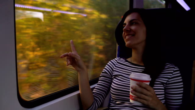 looking through window on a train ride - public transportation stock videos & royalty-free footage
