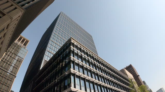 looking up at the office buildings - plusphoto stock videos & royalty-free footage