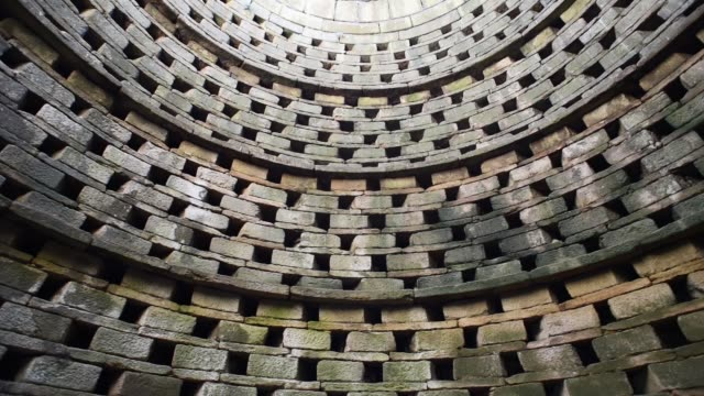 looking up inside a dovecote-france - curve stock videos & royalty-free footage