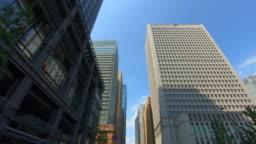 Looking up view of skyscraper